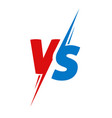 vs or versus text logo for battle or fight game vector image