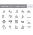 water desalination line icons vector image