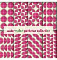 watermelons seamless patterns vector image vector image