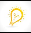 Abstract yellow light-bulb icon vector image