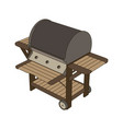grill bbq barbecue food meal logo steak icon vector image