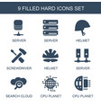 9 hard icons vector image vector image