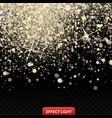 a falling shiny golden vector image vector image