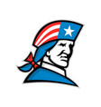 american patriot head usa flag mascot vector image vector image