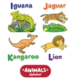 Animals alphabet or ABC vector image vector image