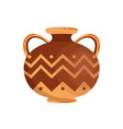 antique greek stoneware or pottery flat vector image vector image
