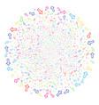 arrow fireworks spheric cluster vector image vector image