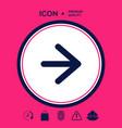 arrow next icon vector image