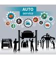 Auto Service Concept Background vector image vector image