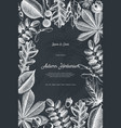 autumn design card on chalkboard vector image vector image