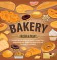 bakery and pastry shop bread sweets vector image vector image