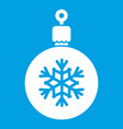 ball for the christmas tree icon white vector image vector image