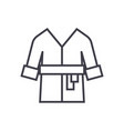 bathrobespa home line icon sign vector image