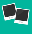 Before after instant photo Flat design vector image vector image