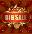 big sale christmas banner vector image