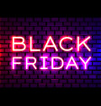 black friday realistic isolated neon sign vector image