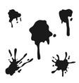 black ink splash vector image