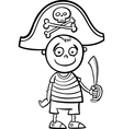 boy in pirate costume coloring page vector image vector image