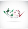 bull and bear symbols of stock market trends