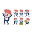 businessman character cartoon vector image