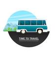 caravan trailer in flat style vector image vector image