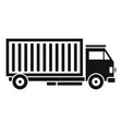 cargo truck icon simple style vector image