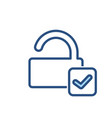 check lock open security icon vector image vector image