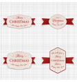 christmas banners labels or tags set vector image