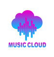 cloud music logo isolated on white vector image vector image