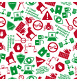 computer security icons red and green pattern vector image vector image