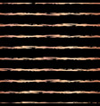 copper foil brush stroke horizontal lines vector image vector image