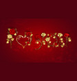 declaration love from red roses vector image vector image