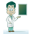 Doctor in a Lab Coat vector image vector image