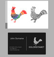emblem icon french rooster vector image vector image