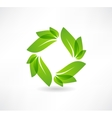 environmental group leaves icon vector image vector image