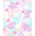 exotic floral tropical pattern vector image vector image