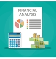Financial calculations Working process vector image