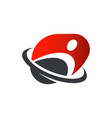 fitness sport logo icon design vector image