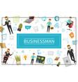 flat businessman elements concept vector image