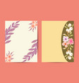 floral frame abstract trendy universal artistic vector image