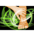 foot massage vector image vector image