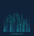 future city skyline vector image vector image