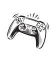 game controller symbol joystick vector image