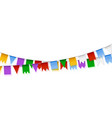 garlands holiday decoration set of colorful paper vector image