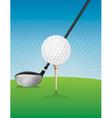 Golf Ball Teed and Driver vector image vector image
