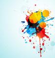grunge splash vector image vector image
