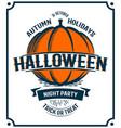 halloween retro invitation pumpkin vector image vector image