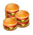 hamburger 02 vector image