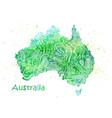 hand drawn watercolor map australia