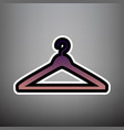 hanger sign violet gradient vector image